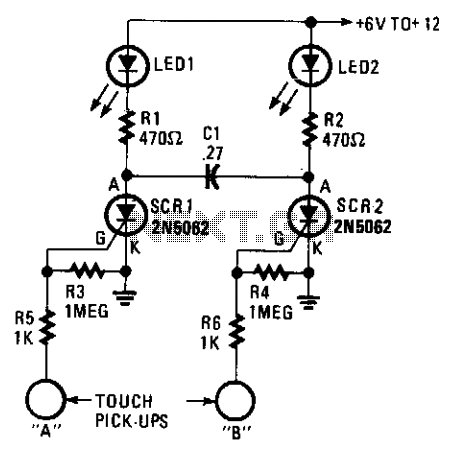 Touch on-off switch  - schematic