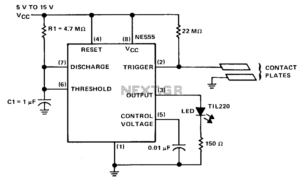 Touch switch  - schematic