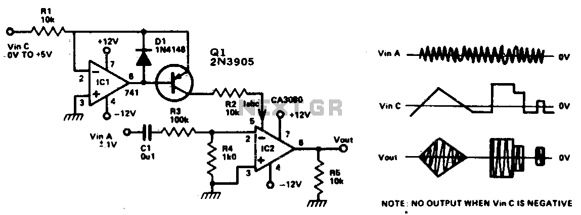 Voltage controlled amplifier - schematic