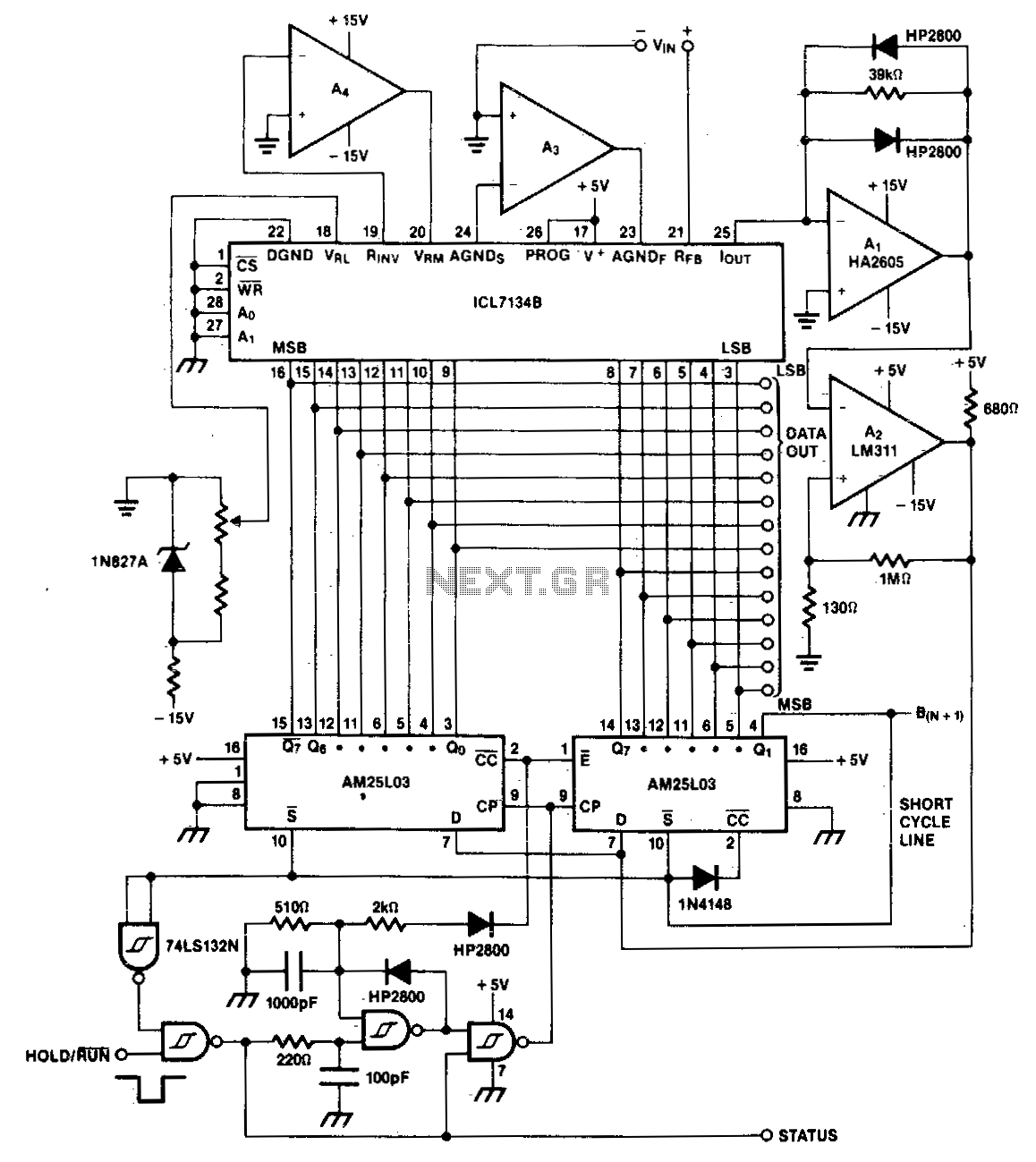 Successive approximation a-d converter - schematic
