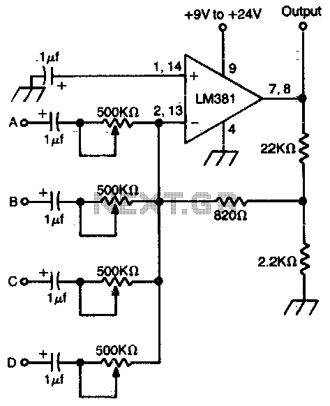mixer schematic: Looking to build stereo mixer but can t find many schematics