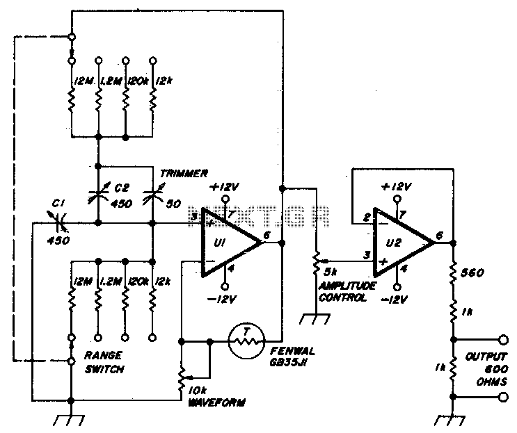 wien bridge oscillator ii   audio oscillator circuits
