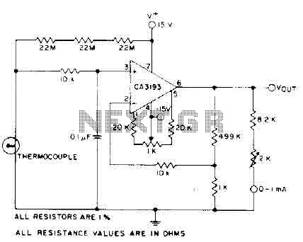 Thermocouple Amplifier circuit (CA3193) - img1