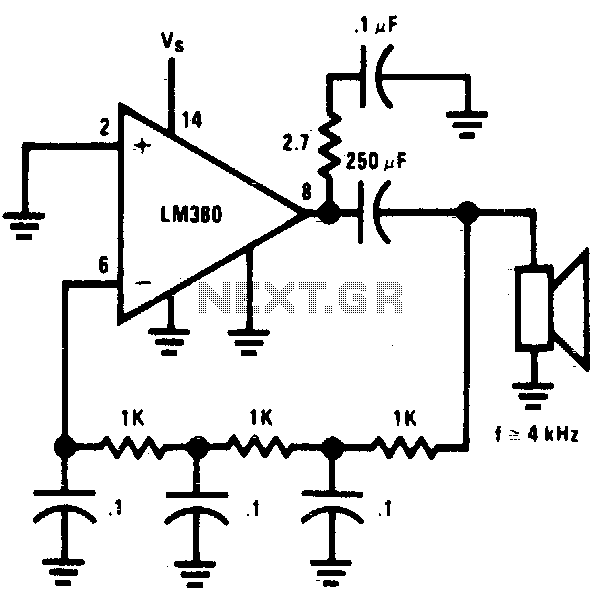 Phase-shift oscillator - schematic