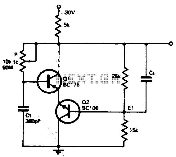 Wide range oscillator - schematic