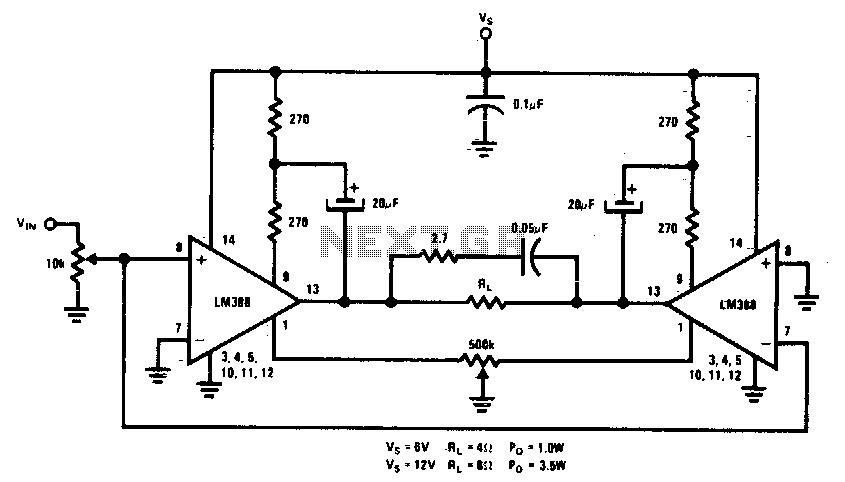 Bridge amplifier - schematic