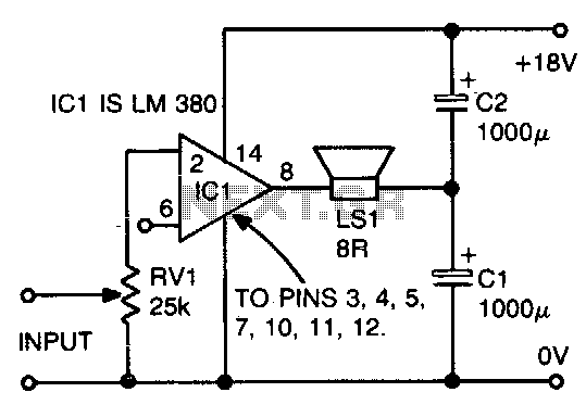Novel loudspeaker coupling circuit - schematic