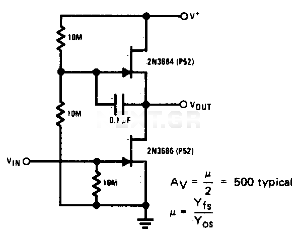 Ultra-high gain audio amplifier - schematic