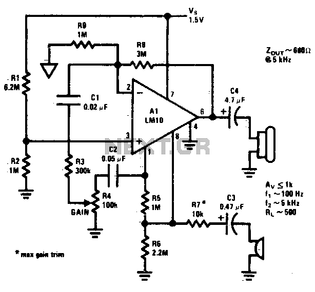 Microphone amplifier