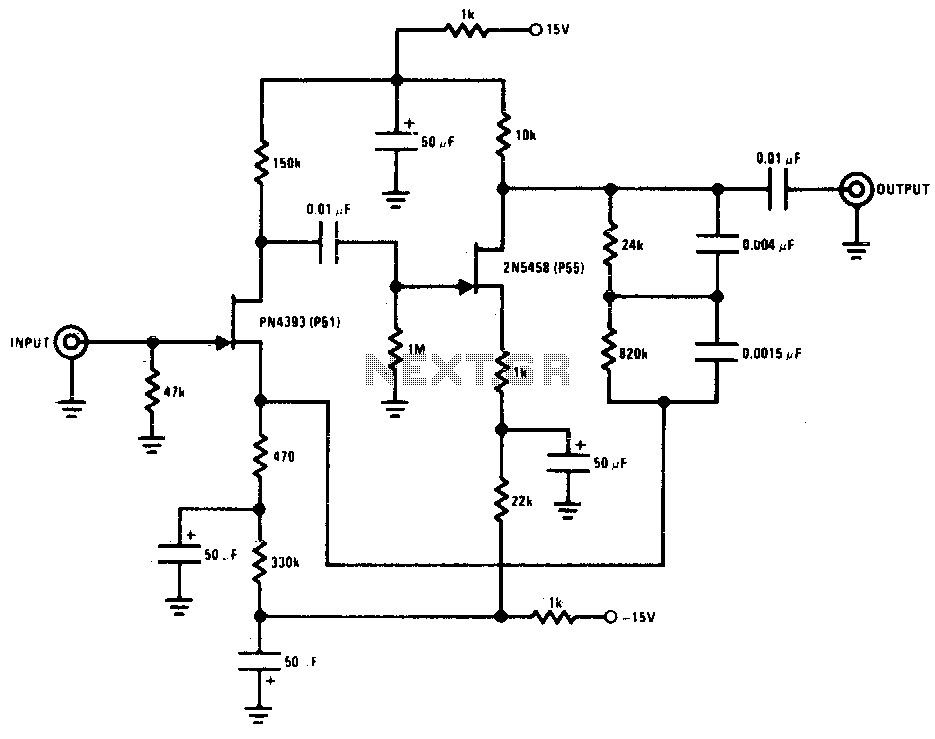 magnetic pickup phono preamplifier circuit