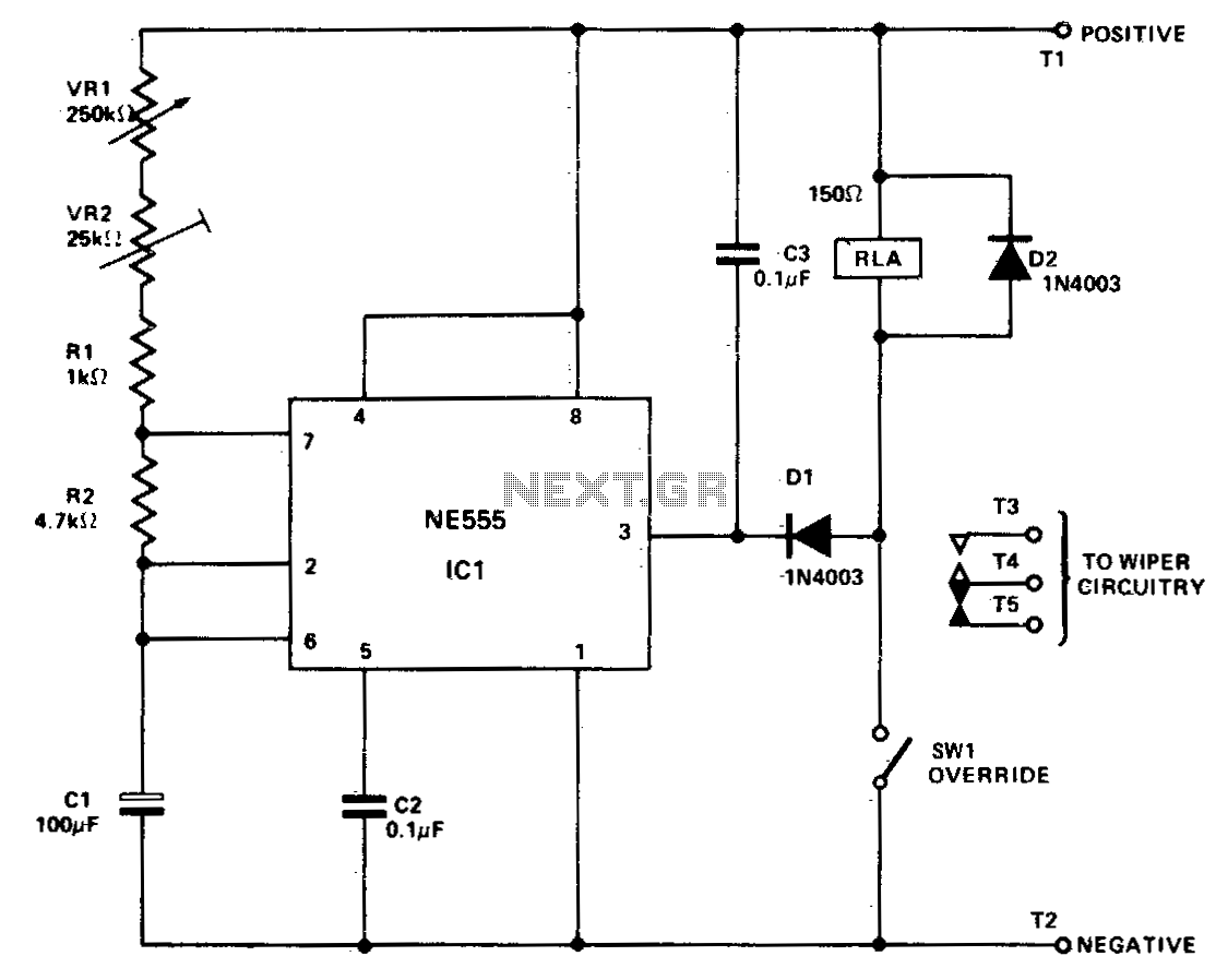 Universal wiper delay - schematic