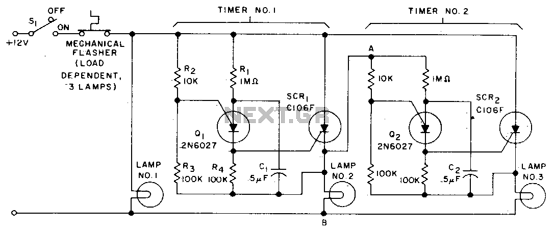 Sequential flasher - schematic