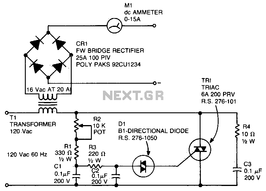 Battery charger - schematic