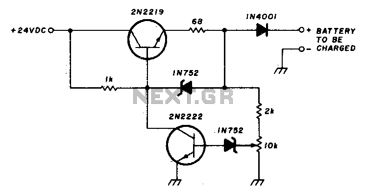 200Ma-12v ni-cad battery charger - schematic
