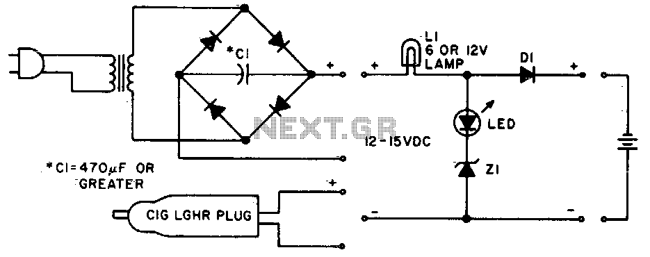 Ni-cad charger with current and voltage limiting