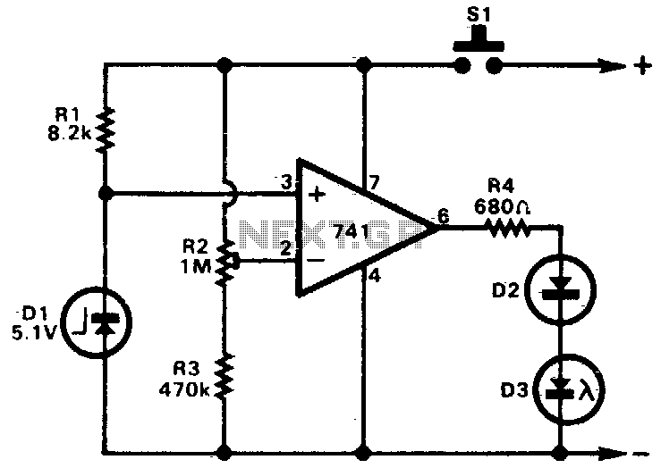 Battery condition indicator - schematic