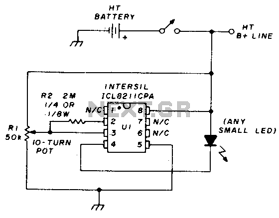 Precision battery voltage monitor - schematic