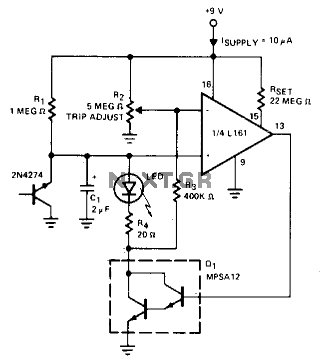 Low battery indicator - schematic