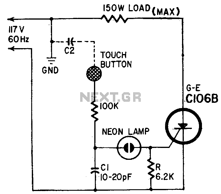 Capacitance relay - schematic