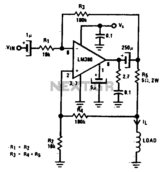 Power voltage-to-current converter
