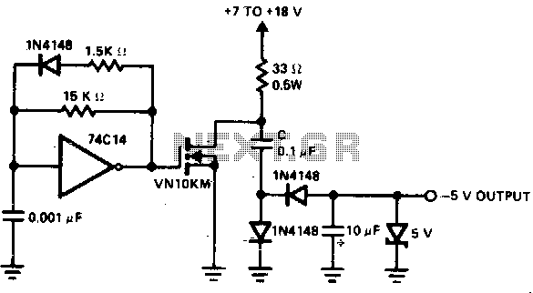 Self oscillating flyback converter - schematic