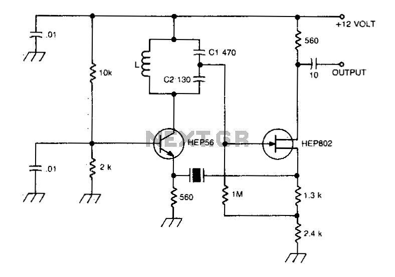 Crystal controlled butler oscillator - schematic