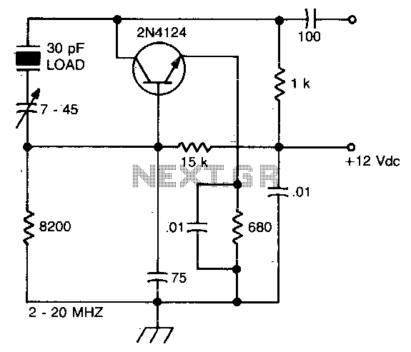 Colpitts 1to 20mhz Crystal Oscillator Circuit Diagram Tradeofic