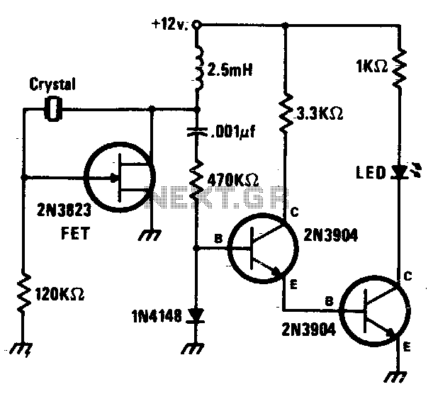 Crystal checker - schematic
