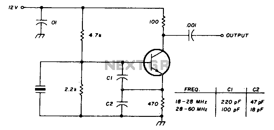 International crystal oscillator