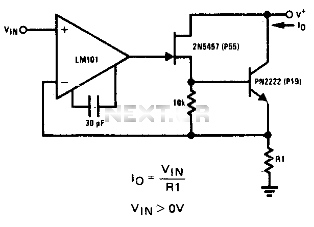 Precision current sink - schematic