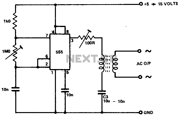 Inverter as high voltage low current source - schematic