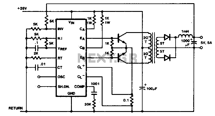 DC-DC regulating converter