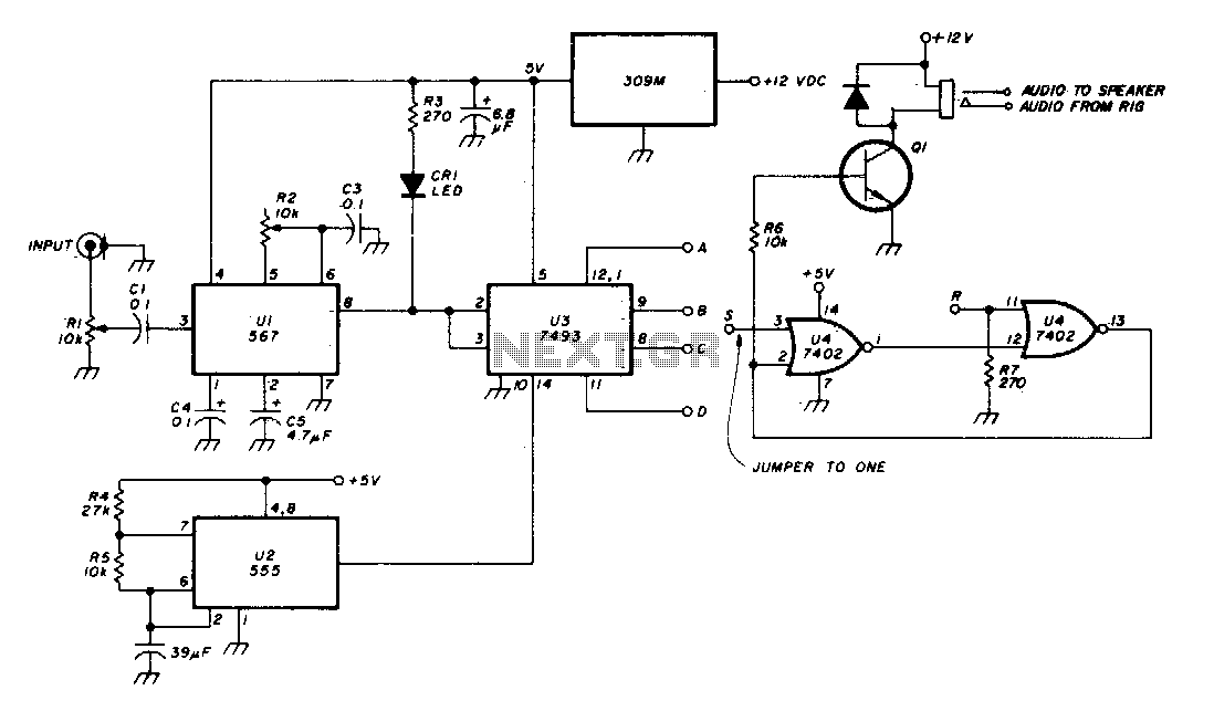 Tone-alert decoder - schematic
