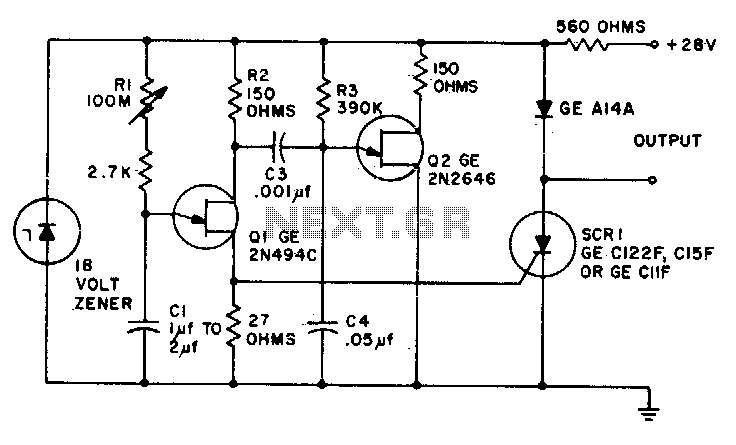 Ultra-precise long time delay relay - schematic