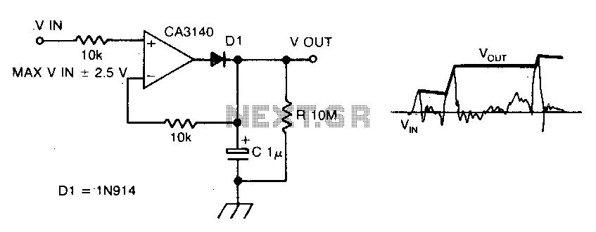 Precision peakvoltage detector - schematic