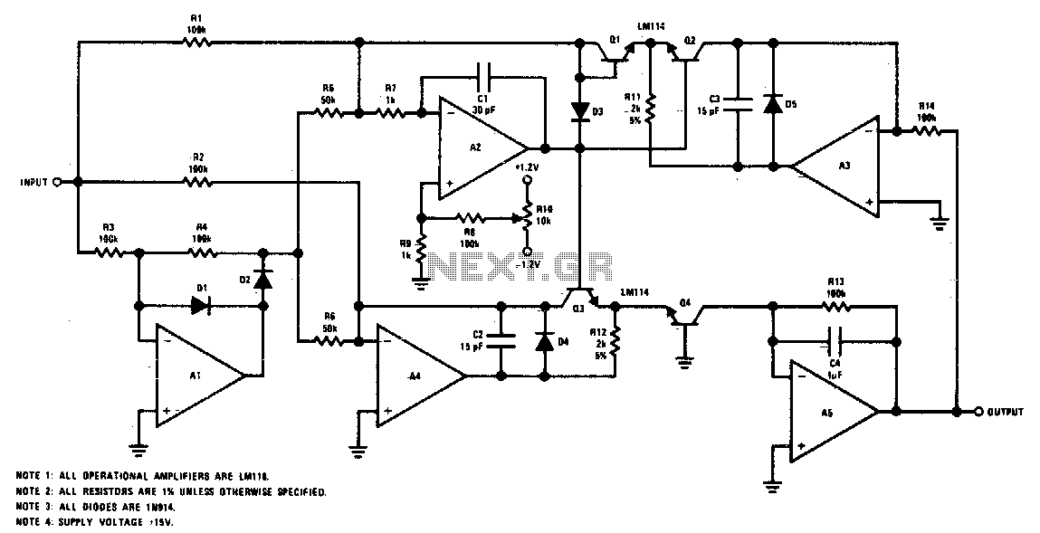 True Rms Voltmeter True Rms Detector Schematic