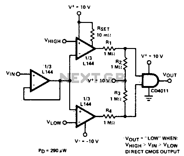 Double-ended limit detector - schematic