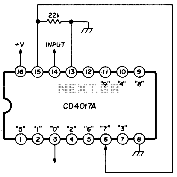 Cmos programmable divide-by-n counter - schematic