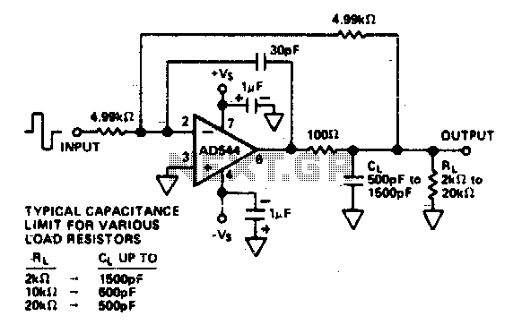 Capacitive load driver - schematic