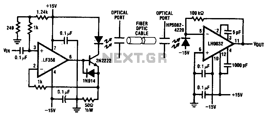 Fiber-optic link - schematic