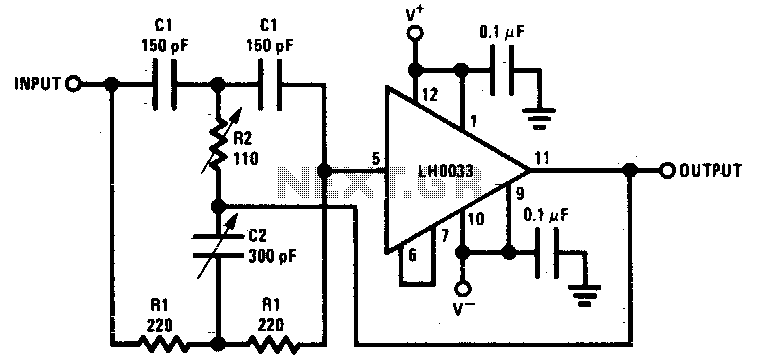 4.5Mhz notch filter - schematic