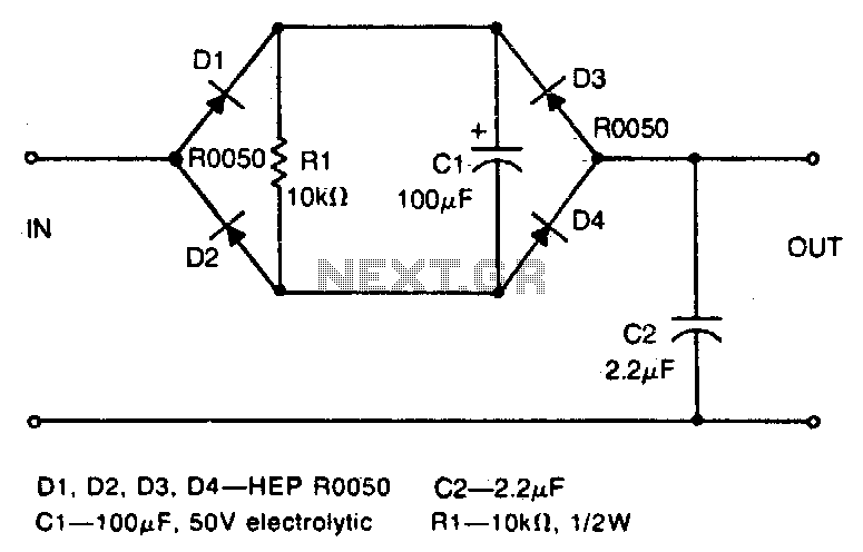 Low-pass filter - schematic