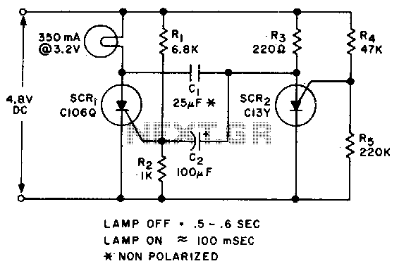 Low voltage flasher