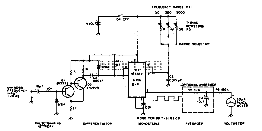Frequency Counter Preamplifier Circuit : Frequency meter circuit counter circuits next gr