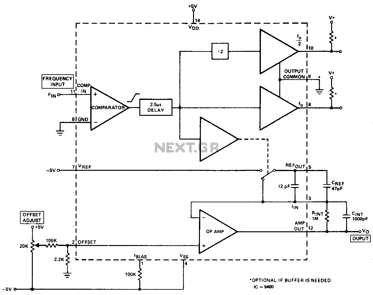 DC-10Khz frequency-voltage converter - schematic
