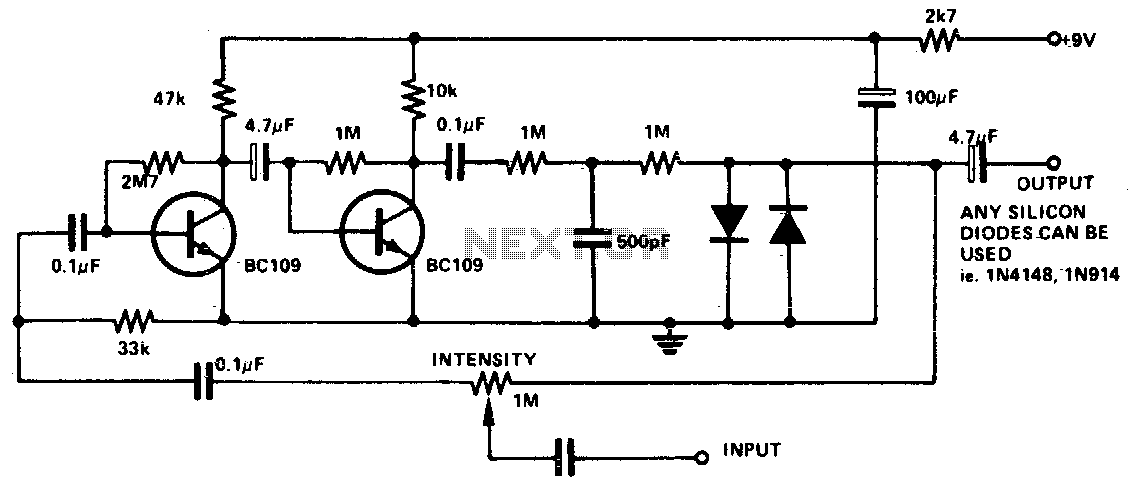 Fuzz box 1 - schematic