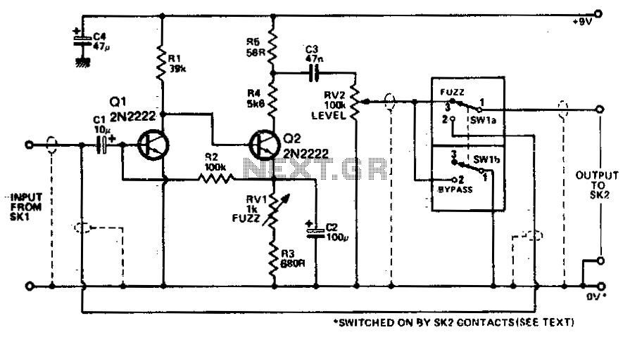 Fuzz box 5 - schematic