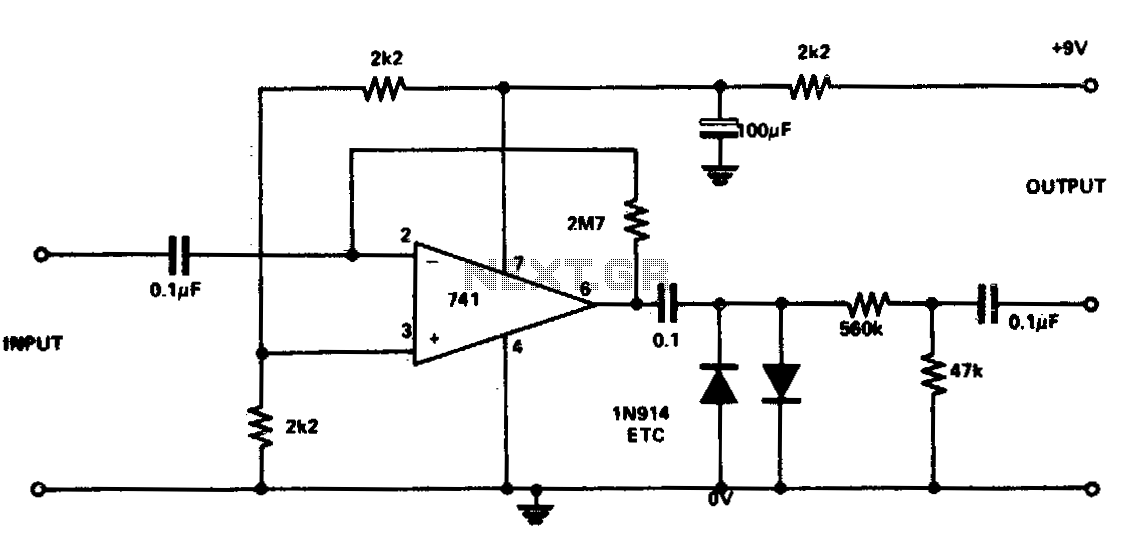 Guitar fuzz - schematic