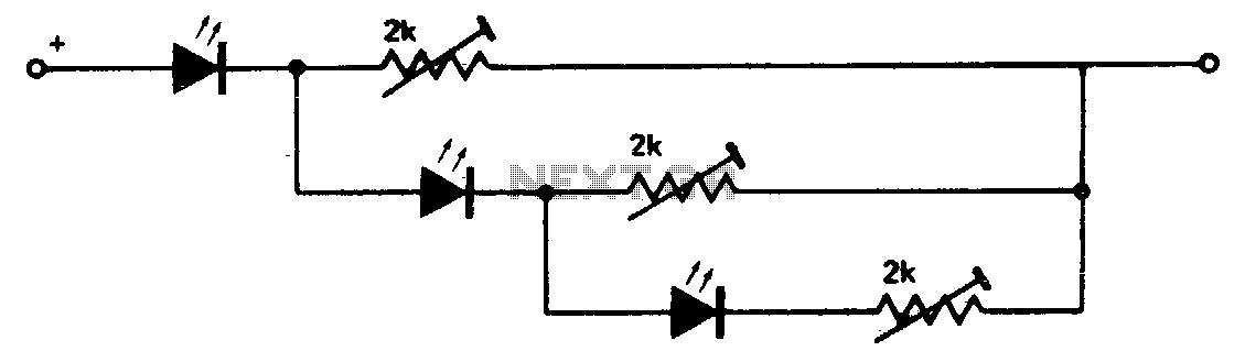 Three-step level indicator - schematic