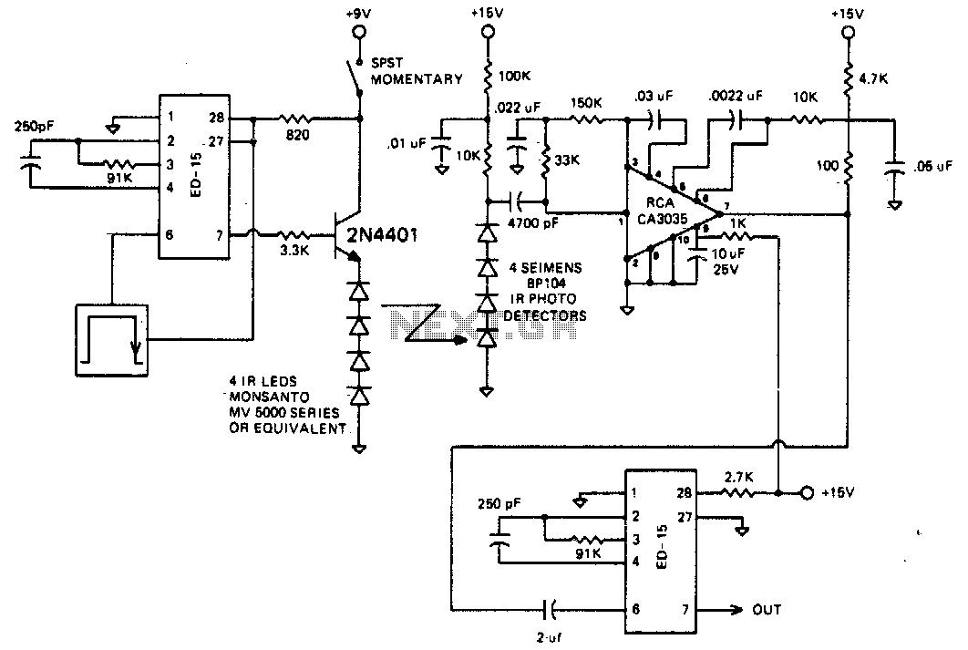 IR remote control transmitter-receiver - schematic